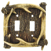 Antler Double Switch Plate